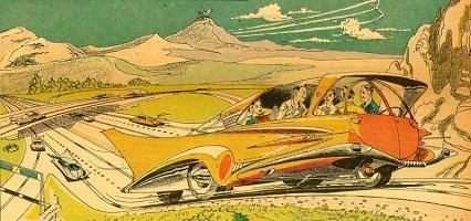 driverless car cartoon