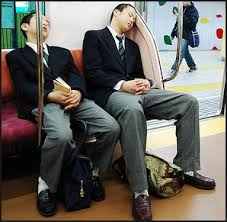 sleeping on the subway 2