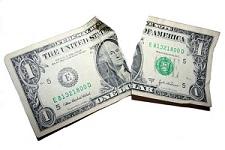 torn dollar bill