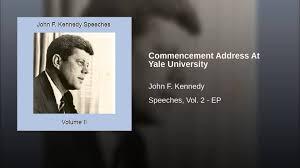 President Kennedy address at Yale